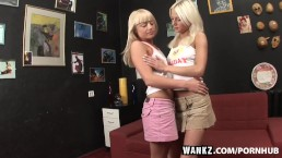 WANKZ- Slender Blondes Licking Ass
