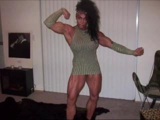 Burnin' Muscle...Exotic Muscle Goddess Latia Del Riviero