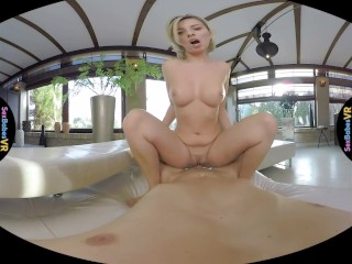 SexBabesVR - Massaging His Dick with Vicky Love