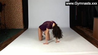 Flexibility queen Laczkowa  teasing teen russian fetish gym young kink petite black hair teenager ballet flexyteens flexible bridge gymnast gymnasts