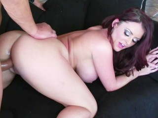 pawg milf with huge boobs talks dirty and gets her tight pussy fucked