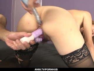 Yuki Mizuho enjoys spinning the cock in her wet pussy
