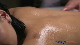 Preview 1 of Massage Rooms Brunette Serbian hottie has multiple orgasms from big dick