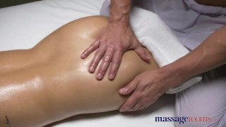 Preview 3 of Massage Rooms Brunette Serbian hottie has multiple orgasms from big dick