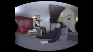 Luca Bella strikes again as a horny french maid