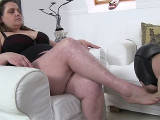 lady tiger takes advantage of her slave - hungarian bbw mistress humiliates her servant