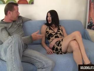Mature and horny Natasha Kee takes cock