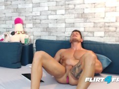 Athletic Ripped Euro Ethan Joy Finds Pleasure in His OhMiBod