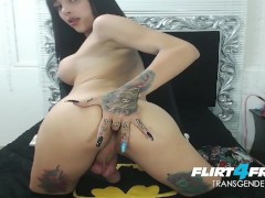 Sexy Asian Tgirl Sara Salazar Shows Off Her Big Tits and Cock