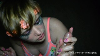 BETRAYED!!-Cute Engaged Teen Gets Cumshot By Stranger After EDC!!  facial cumshot point of view cheating cuckold young green eyes slut teenager facial big boobs glitter goddess cheating fiance fiance edc glitter barely legal