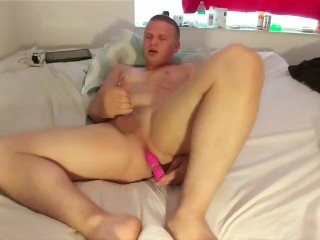 Fuck myself with toy and cum 3 times