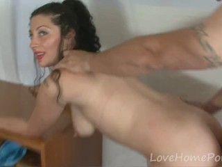 Milf in stockings gets eaten and slammed