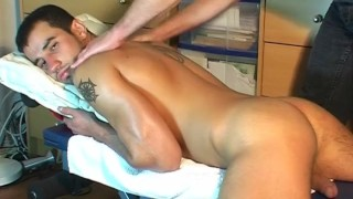 Fabriano's cock massage ! (straight stud seduced for gay porn)