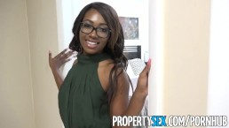 PropertySex - Smoking hot black real estate agent surprises client