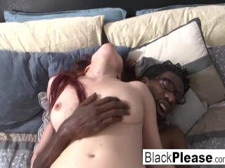 Sexy redhead Jessica cant get enough interracial