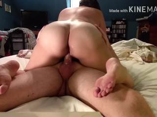 PAWG MILF Becky Tailor ruined orgasm- he cums too fast
