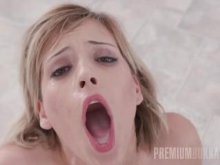 Premium Bukkake - Ria Sunn swallows 66 huge cum loads