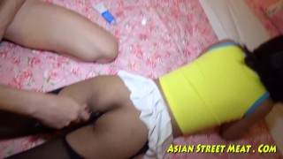 Asian Woman Dribbles Semen After Anal Intercourse  ass fuck assfuck bangkok thai asshole pattaya deep amateur young girlfriend prostitute petite slut anal hotel teenager