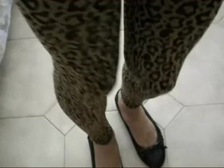leopard leggings - jessykyna crossdresser