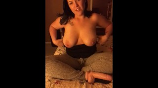 JOI With Your Hot Best Friend  best friend brunette joi natural tits jerk off instruction big tits dirty talk masturbation dildo amateur solo busty