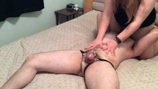 Facesitting hotwife tells husband about her date  amateur femdom condom blowjob femdom facesitting tease and denial sissy chastity men in panties orgasm denial hotwife cuckold facesitting chastity amateur cuckold kink pussy licking cock cage orgasm control