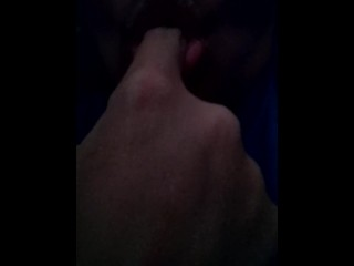 Fat lips sucking her finger...horny