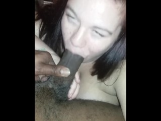Preggers suckin my dick