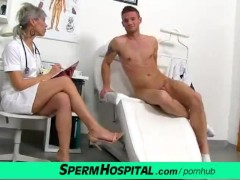 : CFNM penis medical exam with sexy Czech MILF doctor Beate