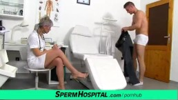 CFNM penis medical exam with s