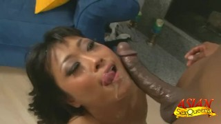 Blacked Yuki Mori Facialed  ass pounding asian cumshot fetish big dick yuki mori hardcore kink japanese interracial brunette stockings facial pussy licking rough sex asiansexqueens