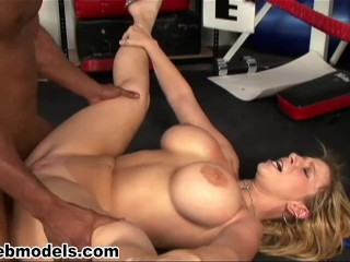 Sara Jay fucked by BBC Big Black Cock - WOW! Must See!