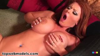 Sophie Dee Strips and Loves to Get Fucked for HUGE FACIAL! WOW! Must See!