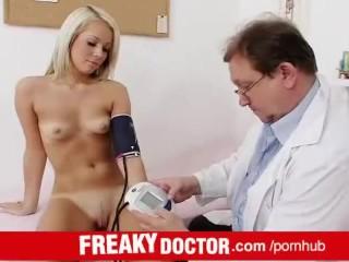 Hot Czech blondie Venus Devil visits dirty doctor