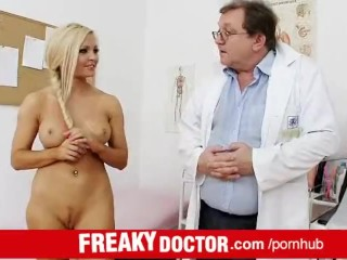 czech hottie nicky angel treated by a dirty doctor