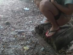 Movie:katherine pee near the river