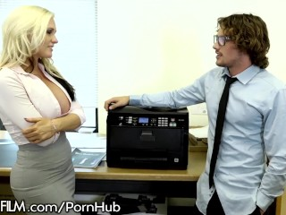DevilsFilm Slamming Big Titty MILF at the Office