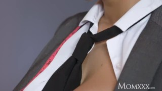 MOM Asian big boobs Milf orgasms on big cock before heavy facial  big natural tits big cock female friendly glasses female orgasm french asian mom blowjob handjob orgasm facial big boobs momxxx boss shaved pussy sharon lee