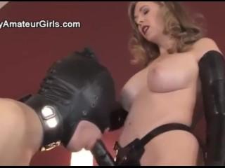 Mistress T Strapon her slave
