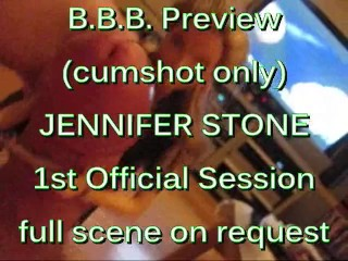 BBB preview: Jennifer Stone's 1st official facial (cumshot only)