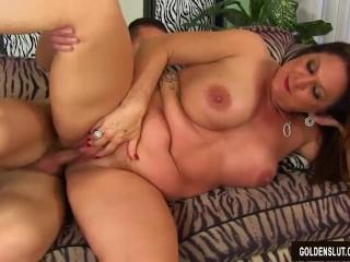 Grandma Leylani seduces boy