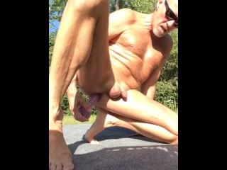 Backyard masterbation