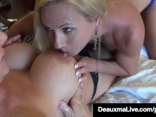 Horny Milf Deauxma & Brooke Tyler Pussy Pleasure Each Other!