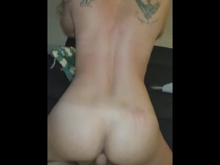 Home housewife fucks hubby on floor