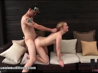 Hussie Auditions: Blonde Teen Chloe Couture's (Cherry) First Sex Scene