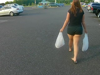 Creepshot at the Grocery Store W/ Thick Redhead PAWG Velvet Diablo -NO SEX-