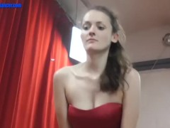 Horny bitch fucks him after dance