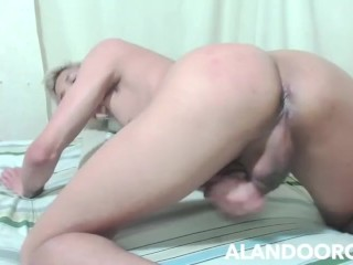 ALAN DO ORO - fingering my hole and swallowing my cum load