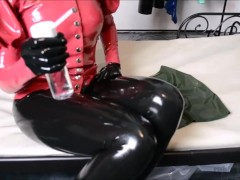 Latex layers for kinky rubber session / blouse and miniskirt