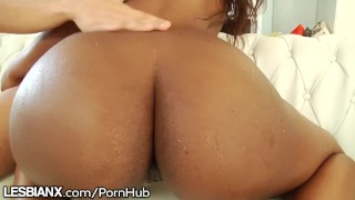 Preview 4 of LesbianX Phat Ass Abella and Chanell Vigorous Scissoring