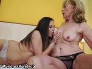 21Sextreme Granny Licks Fresh Teen Pussy